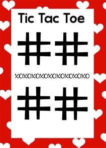 Tic Tac Toe Template Word by Free Printable S Day Word Search Tic Tac Toe