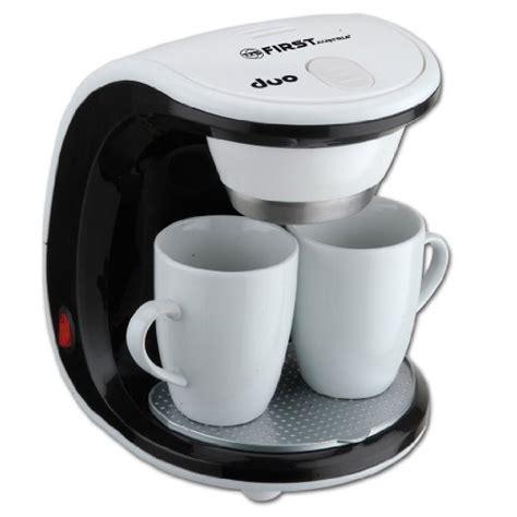 kaffeemaschine 2 tassen test tzs austria kaffeemaschine duo mit 2 tassen 450w fa