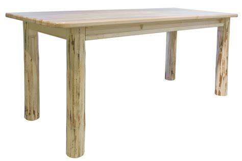 pine log furniture unfinished montana 4 post dining table