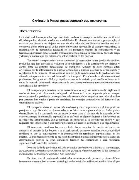 (PDF) Economía del Transporte