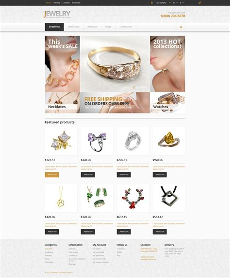 design brief jewellery responsive jewelry store prestashop theme 45945
