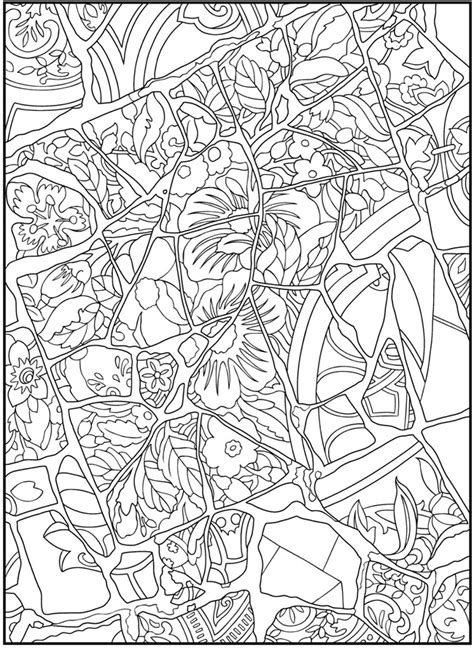 mosaic pattern coloring pages