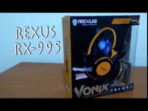 Headphone Rexus Rx 995 unboxing headset gaming rexus rx 995
