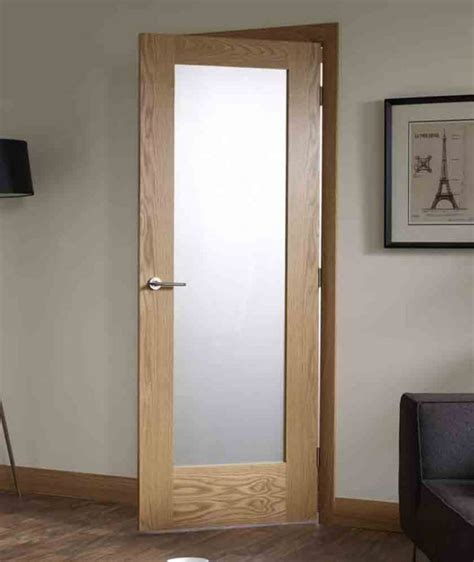 Interior Frosted Glass Doors Ideas For The House Interior Oak Doors With Glass
