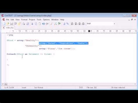 tutorial php foreach beginner php tutorial 41 for each statement youtube