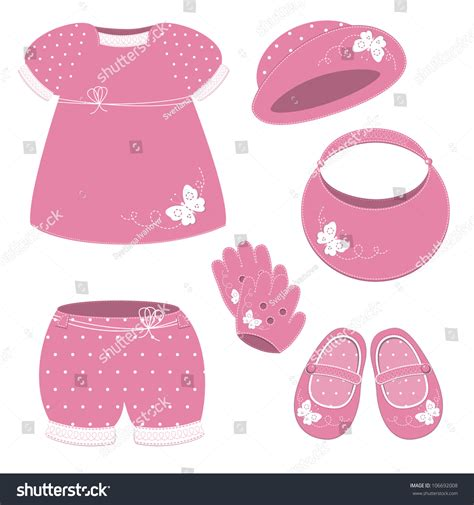 Girlset Pink baby set with pink dress hat shoes gloves