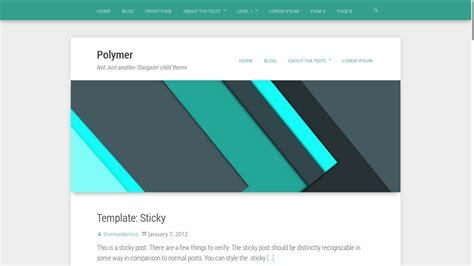 design header for wordpress polymer free material design wordpress theme