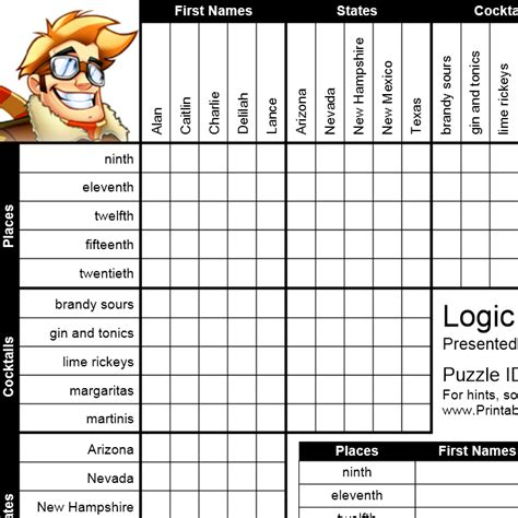 Printable Puzzle Baron | math logic puzzles printable search results calendar 2015