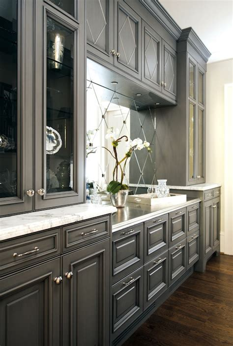 Grey Cabinets Kitchen by Charcoal Gray Cabinets Design Ideas