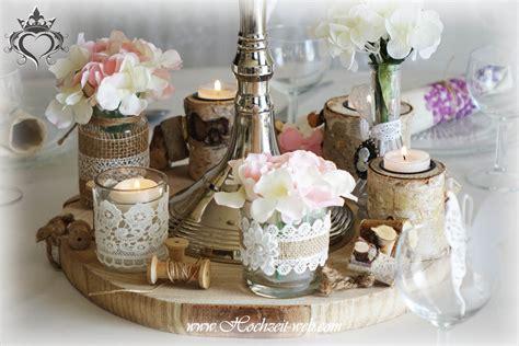Hochzeitsdeko Holzscheiben by Nostalgie Hochzeitsdekoration Shabby