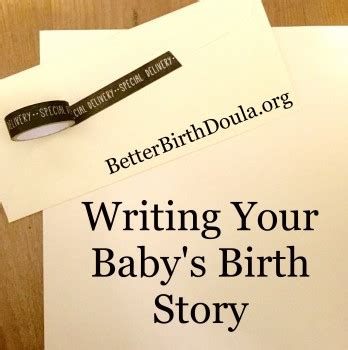 writing the story of your baby s birth