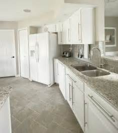 white kitchen floor tile ideas a look at our florida home cabinet colors
