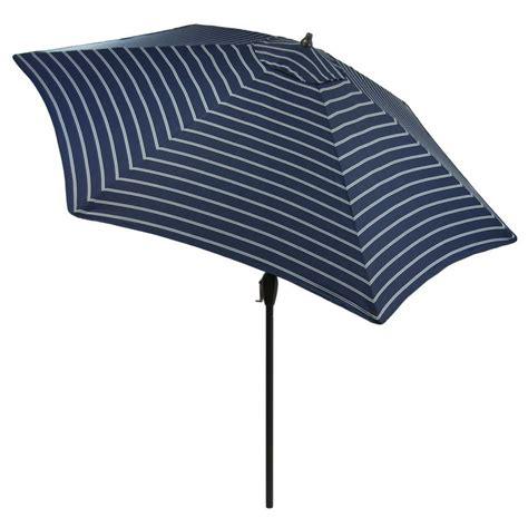 Hton Bay 9 Ft Wood Patio Umbrella In Brown 9939 Hton Bay 9 Ft Aluminum Patio Umbrella In Sky Blue With