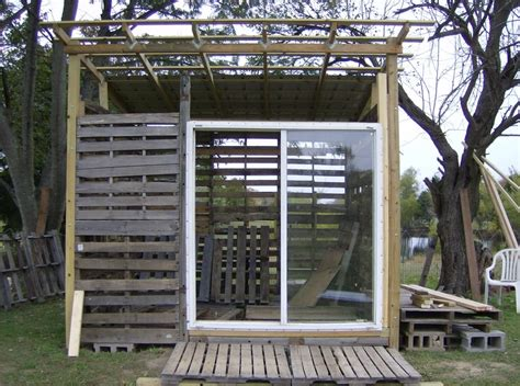 Sliding Screen Door With Dog Door Built In Pallet Shed Building Rural Route Diaries