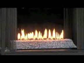 ventless gas fireplace with with glass and see