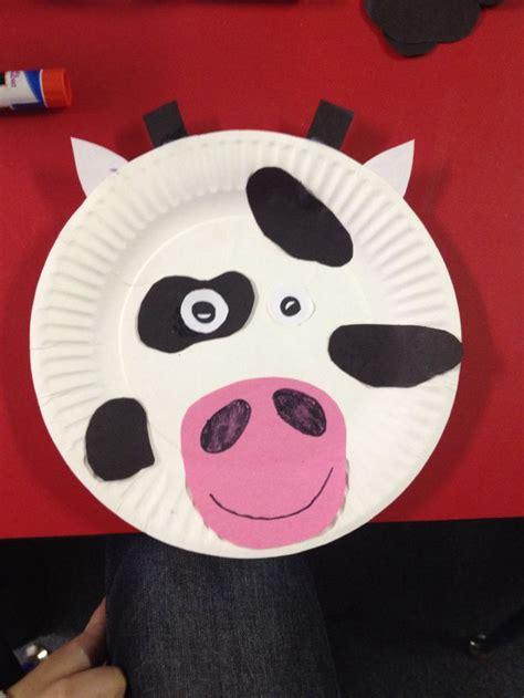 Cow Paper Plate Craft - paper plate cow preschool info
