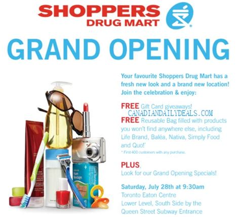 Eaton Centre Gift Card - canadian daily deals shoppers drug mart grand opening toronto eaton centre gift card