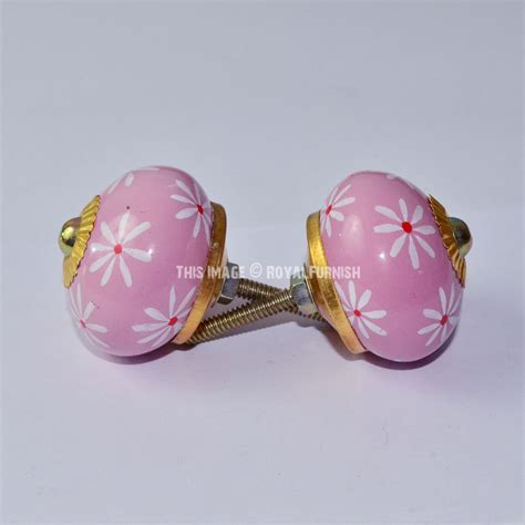 small decorative drawer pulls decorative small floral style pink ceramic ball door