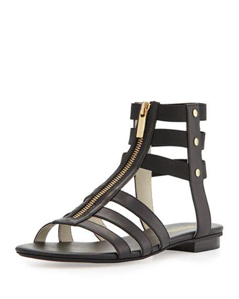 michael kors gladiator sandals michael michael kors codie leather gladiator sandal black