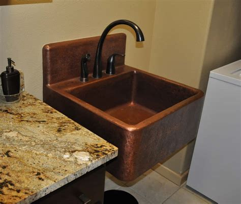 high back wall mount sink high back copper sink mountain copper creations