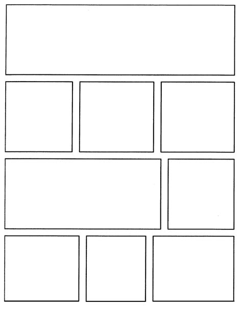 Template For Creating Your Own Comics Https Www Comic Frames Template