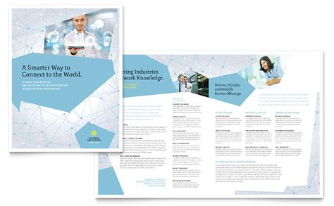 brochure pdf template global network services brochure template design