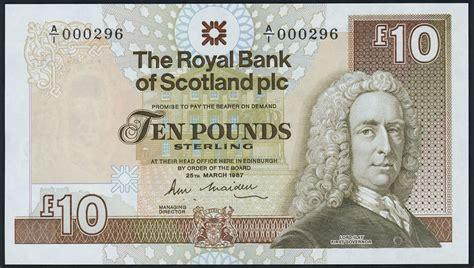 adresse bank of scotland schottland scotland royal bank p 348 10 pounds 1987 1
