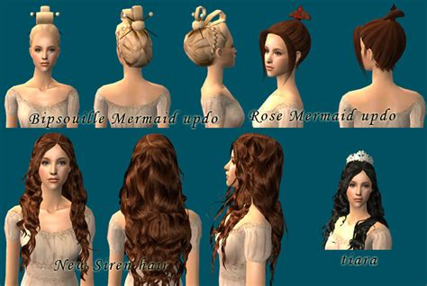 sims 2 hairstyles hair is our crown mod the sims the little mermaid