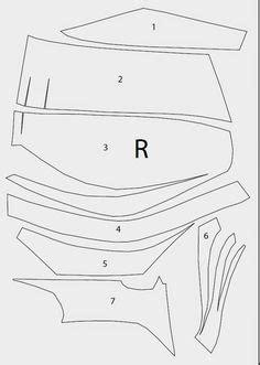 Thor Helmet Foam Cut Out Template Unfold Pattern Eccentric Costume Dress Up Pinterest Foam Armor Templates