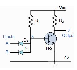 transistor or gate circuit explain the logic nand gate with its operation and how it works as a universal gate