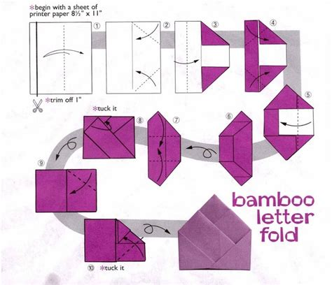 Origami Out Of Printer Paper - bamboo letter fold origata