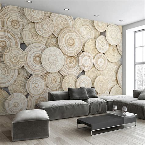 aliexpress home decor large custom mural wallpaper modern design 3d wood texture
