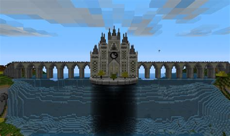 Feature Wall by Waterfall Castle Minecraft Project