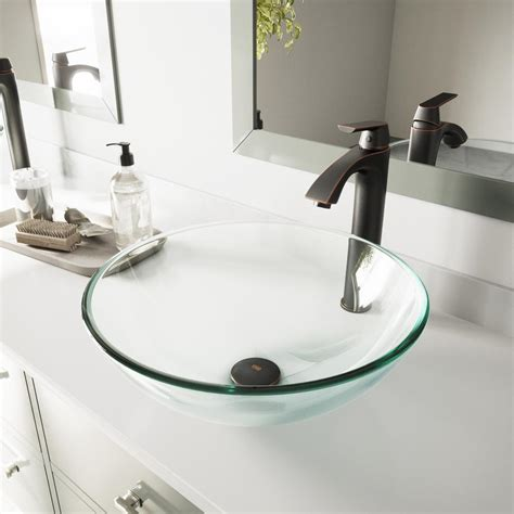 Where Are Vigo Sinks Made by Vigo Glass Vessel Sink In Crystalline And Linus Vessel