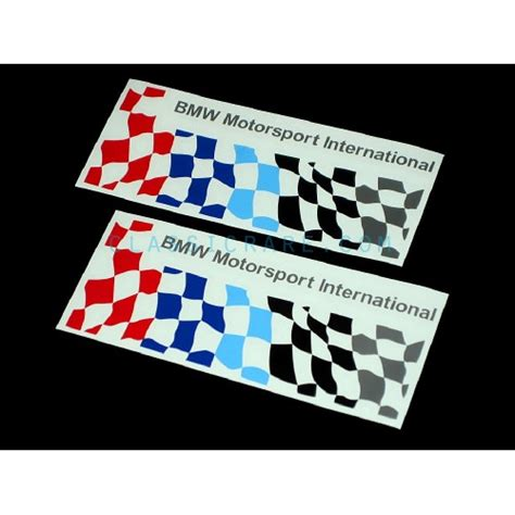 Bmw Motorrad Motorsport Decals by Bmw Motorsport Checkered Flag 6inch Decal Style 1 X 2 Pcs