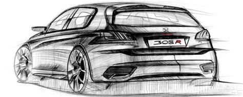 Skizze Auto by Design Skizzen Roehm Vom Peugeot 308 R Concept