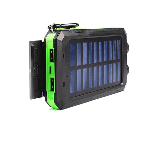 50000mah Dual Usb 2 Led Light Solar Power Bank Portable Solar Light Battery Charger