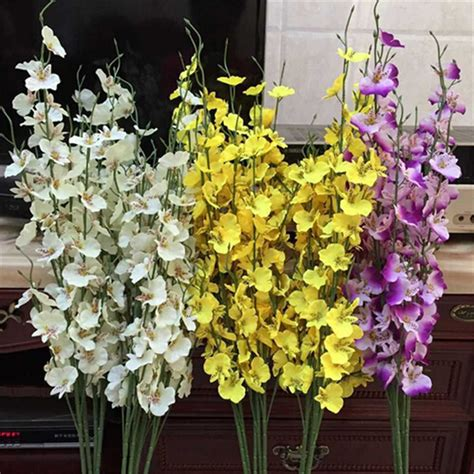 decorative flowers for home artificial orchid simulation decorative flowers home