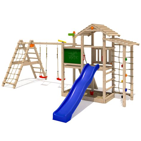 climbing frame with swing and slide isidor bazzy boo play tower climbing frame slide swings