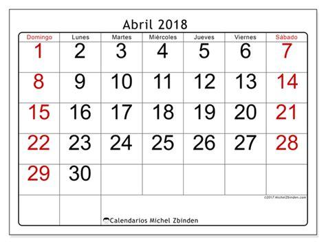 Calendario Abril 2018 Calendario Para Imprimir Abril 2018 Emericus Argentina