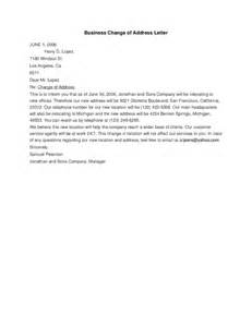 Business Letter Template Change Address Business Change Of Address Letter Hashdoc
