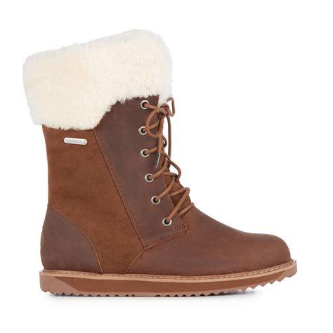 emu australia shoreline leather womens liner skin boot