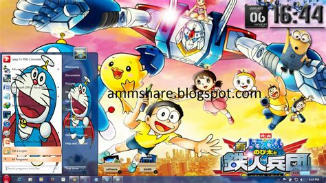 doraemon themes x2 01 theme doraemon for windows 7 amm share