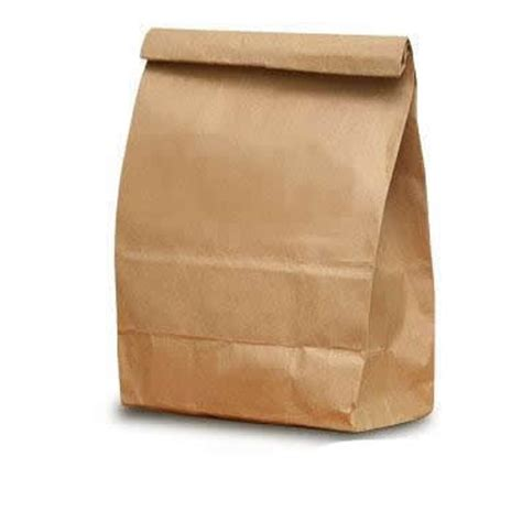 Paper Bag - brown paper bag marine foods express