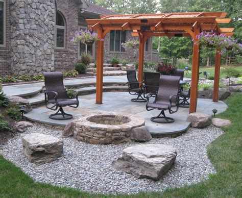 Outdoor Patio Firepit Pit Traditional Patio Dc Metro By Poole S And Garden Inc