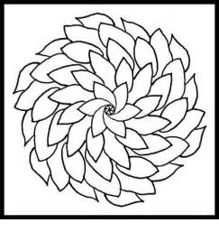 coloring designs easy flower design coloring page clipart best