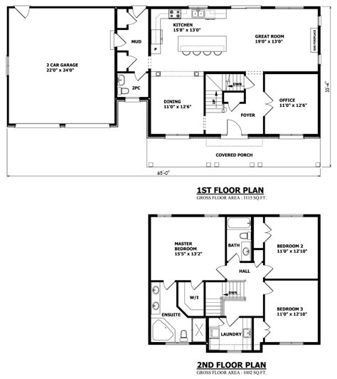 floor plan two storey house canadian home designs custom house plans stock house