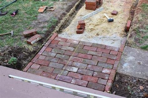 diy brick walkway dream home pinterest