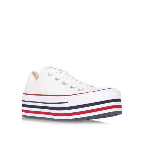 Converse Ct Low White 1 converse ct platform low in white multi coloured lyst