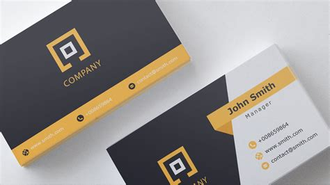 Business Card Template For Affinity Photo by Business Card Template Free 1